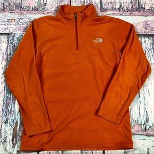 The North Face 1/4 Zip Fleece Burnt Orange Boys XL